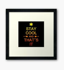 Colorful Stay Cool Framed Print