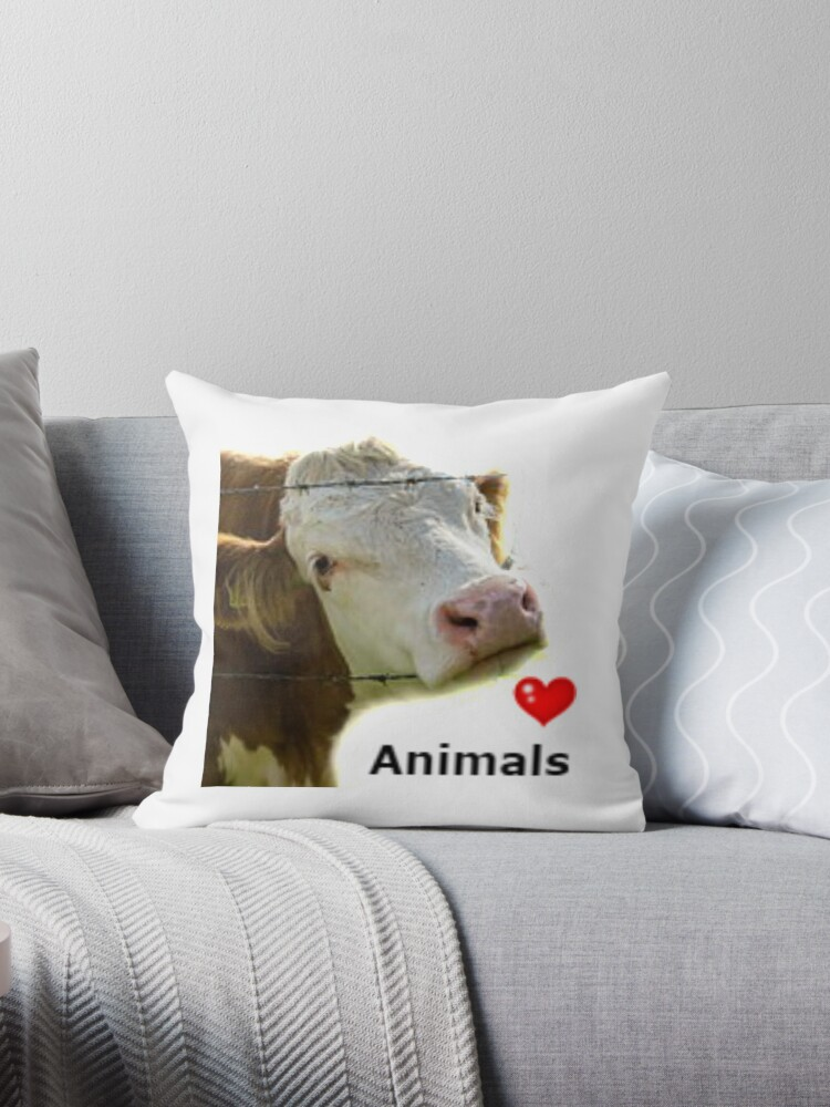 Animal Print Designs-Love Animals-Cow by Makky