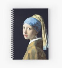 Johannes Vermeer Girl with a Pearl Earring Spiral Notebook