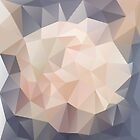 Low Polygon Digital Art : Blush/Pink/Gray by kimBLiSS