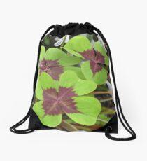 Shamrock 4 leaf Clovers Drawstring Bag