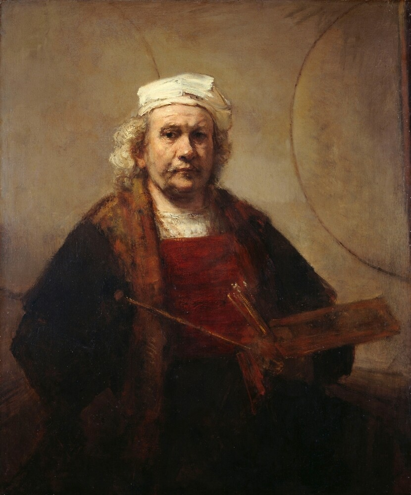 Rembrandt Self-Portrait with Two Circles by pdgraphics