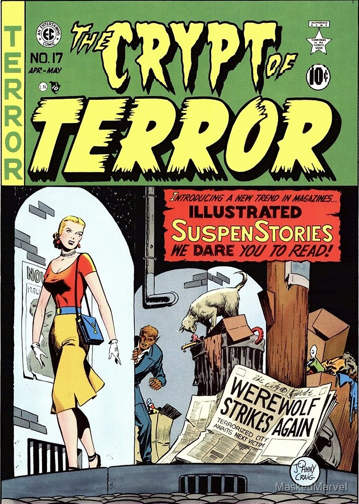 TERROR HORROR COMICS COVER RETRO WEREWOLF by MaskedMarvel