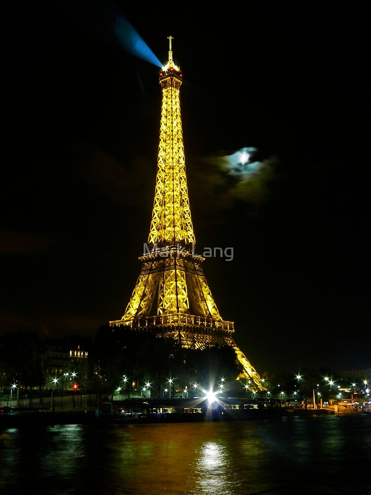 Eiffel Tower and the Moon. by Mark Lang