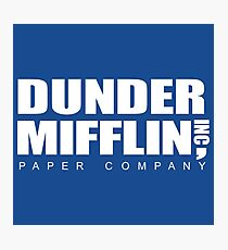 office merchandise. dunder mifflin photographic print office merchandise h