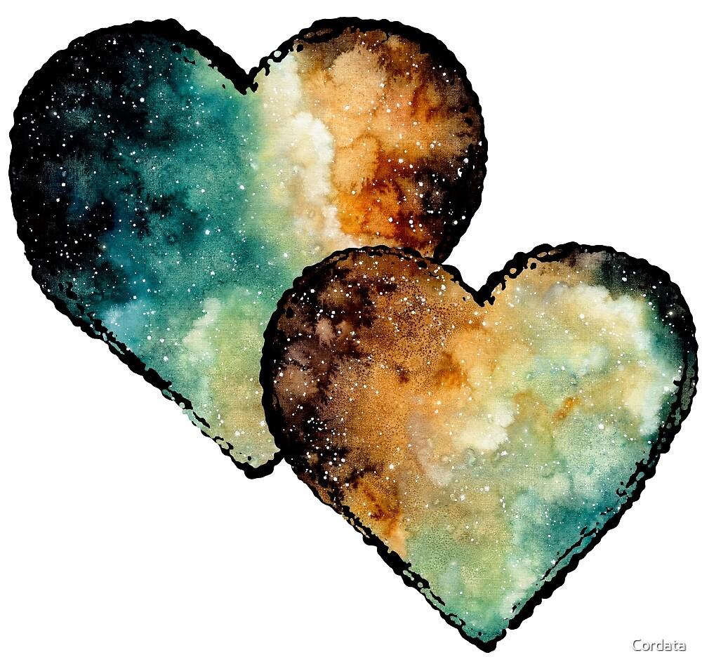 Watercolor Hearts by Cordata