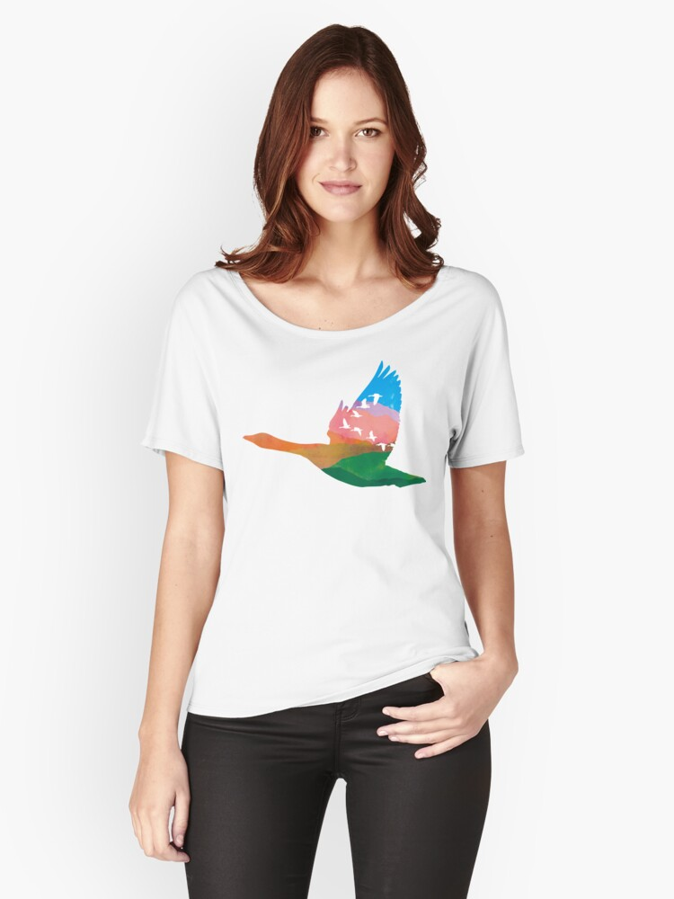 Migratory Birds Women's Relaxed Fit T-Shirt Front
