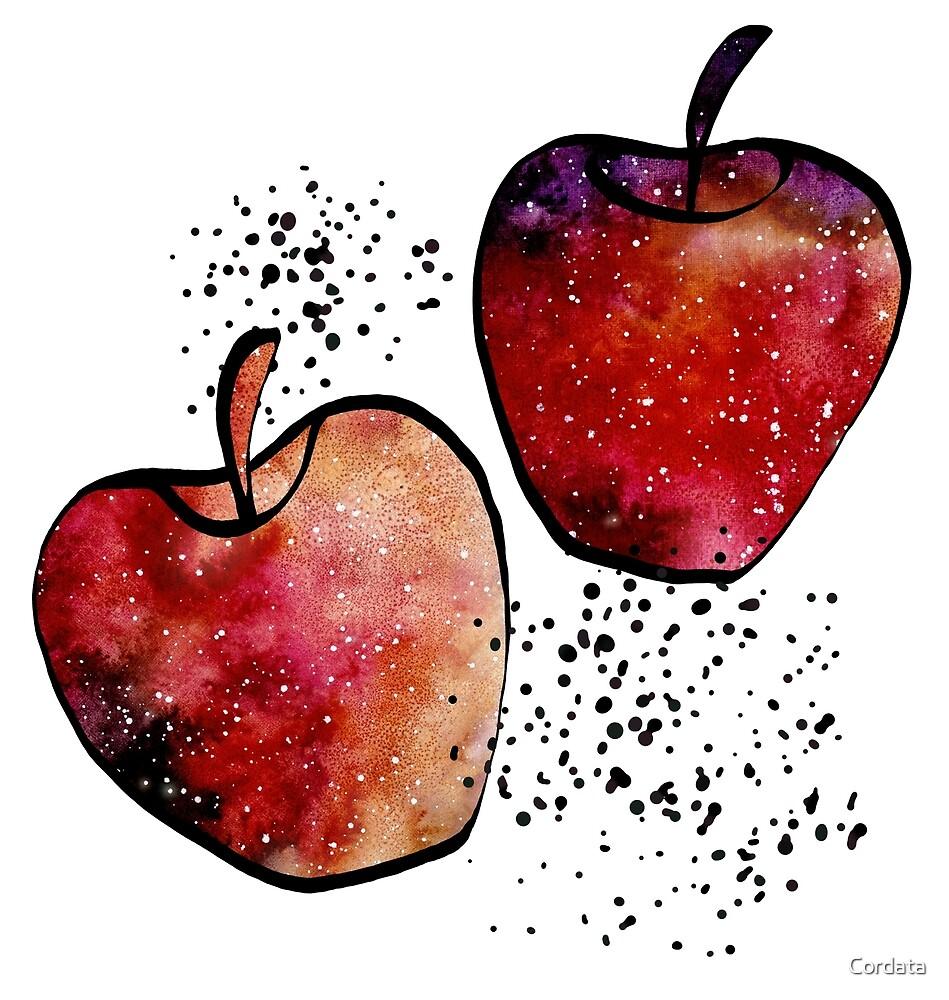 Watercolor Galaxy, Apples, Blobs by Cordata
