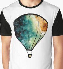 Watercolor Stars, Galaxy and Air Balloons Graphic T-Shirt