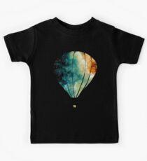 Watercolor Stars, Galaxy and Air Balloons Kids Tee