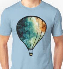 Watercolor Stars, Galaxy and Air Balloons Unisex T-Shirt