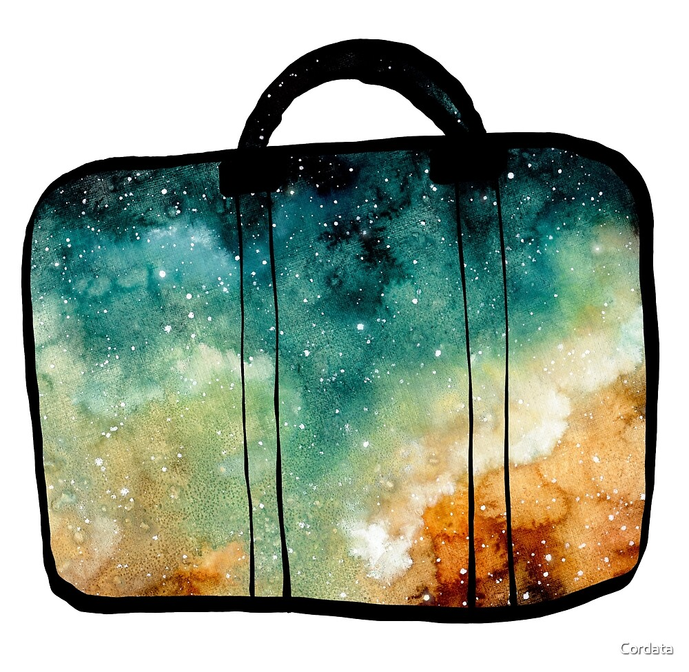 Watercolor Nebula in Bags by Cordata