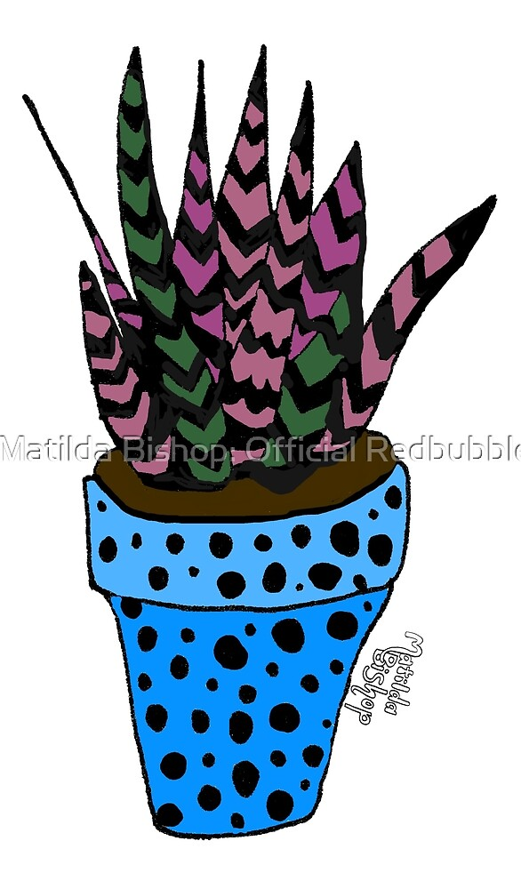 Purple & Green Succulent by Matilda Bishop Art: Official Redbubble