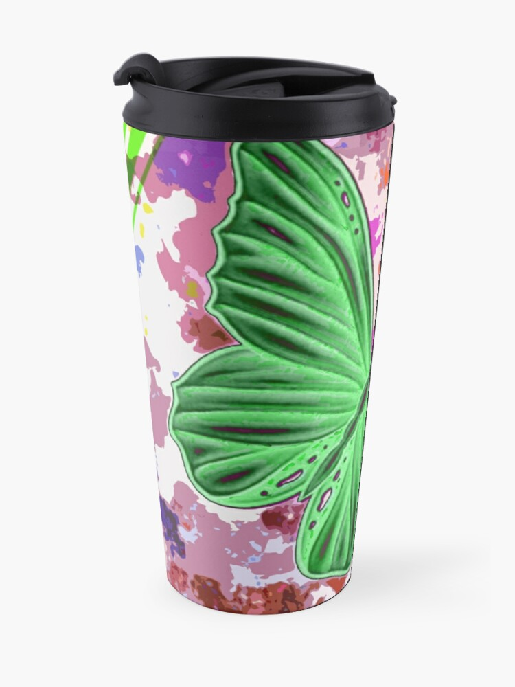 Alternate view of paint me a butterfly Travel Mug