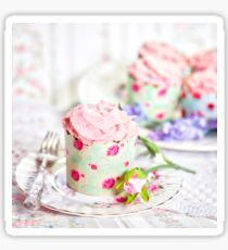 Pretty Pink Cup Cakes Sticker