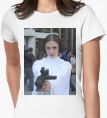 princess leia carry fisher Womens Fitted T-Shirt