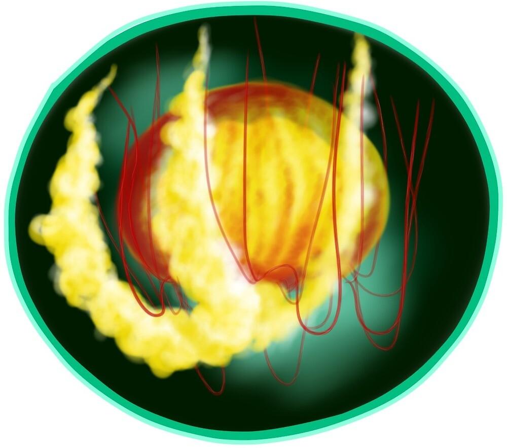 Jellyfish (Circular design) by cactusfricker