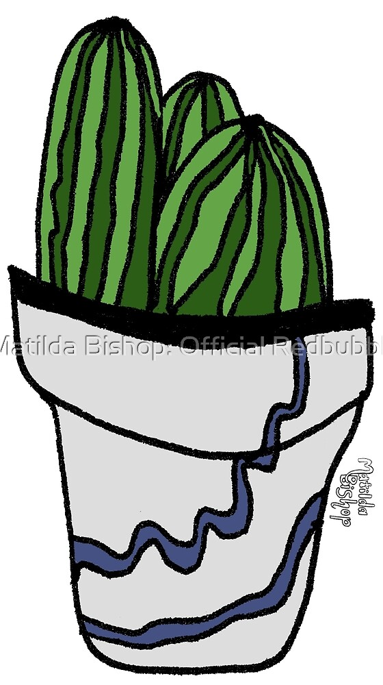 Striped Cactus  by Matilda Bishop Art: Official Redbubble