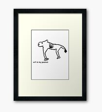 art is my passion Framed Print