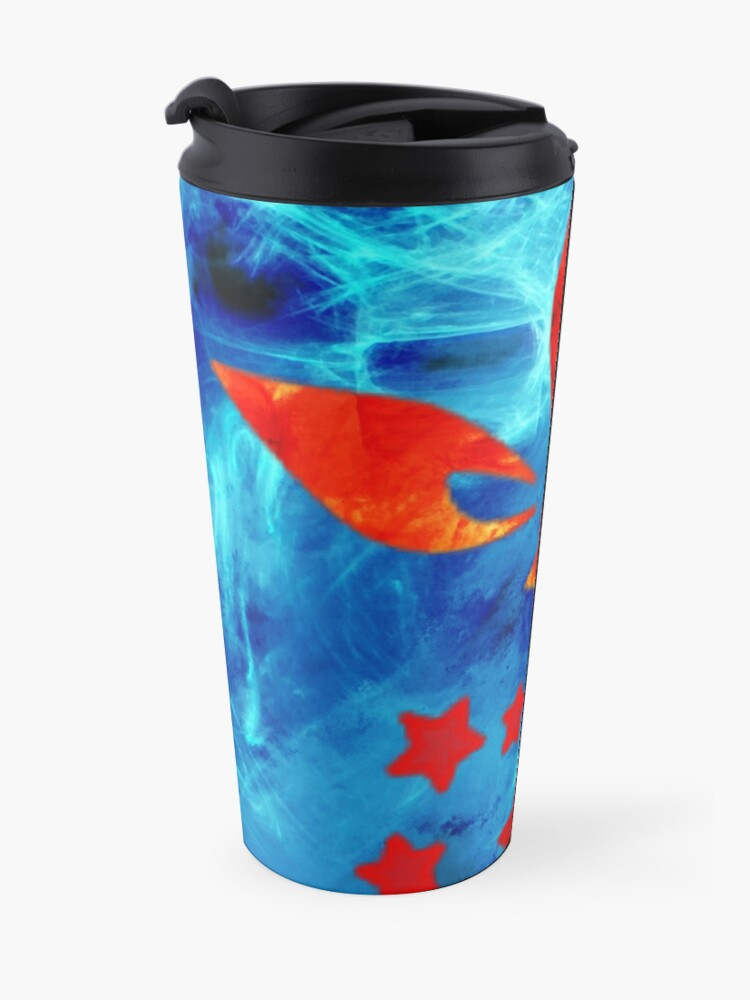Alternate view of omega flower Travel Mug