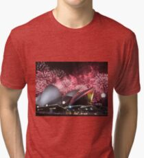 Sydney Opera House up in Lights Tri-blend T-Shirt