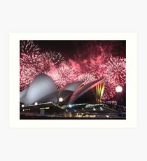 Sydney Opera House up in Lights Art Print
