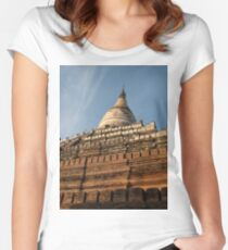 Sunrise Temple in Bagan Women's Fitted Scoop T-Shirt
