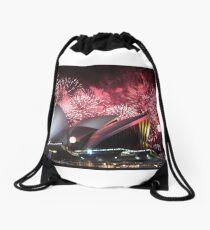 Sydney Opera House up in Lights Drawstring Bag