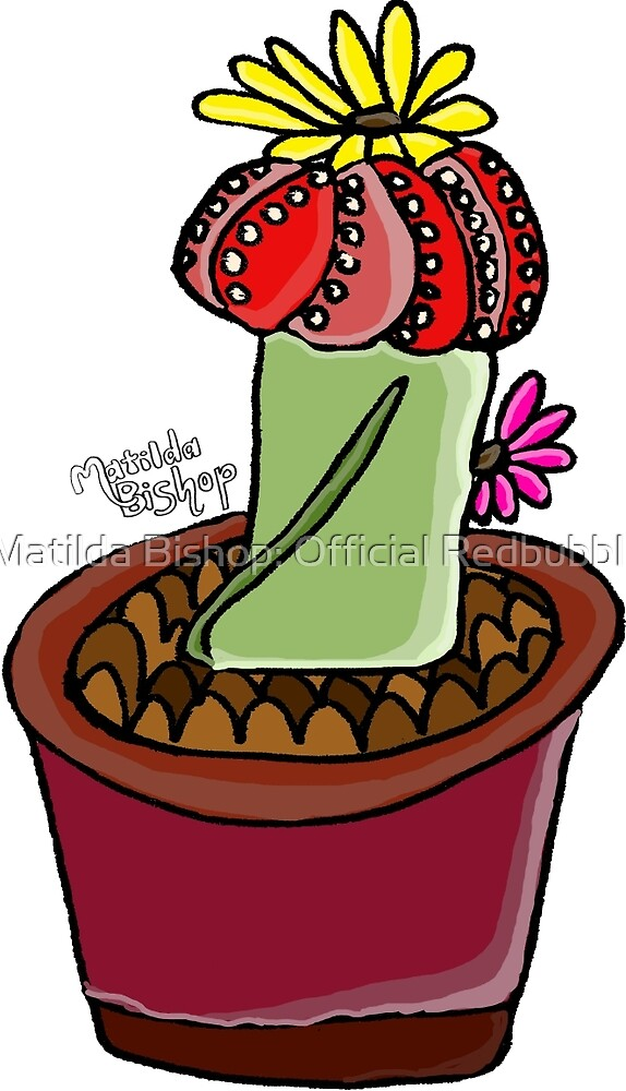 Moon Cactus: Red by Matilda Bishop Art: Official Redbubble