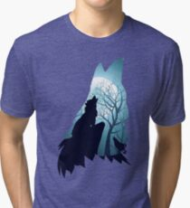 Wolf Howling Abstraction 2 Tri-blend T-Shirt