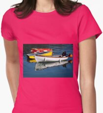 Row-boats ~ Lyme Regis Womens Fitted T-Shirt