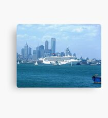 Star Line Liner docked Port Melbourne, Vic. Australia Canvas Print