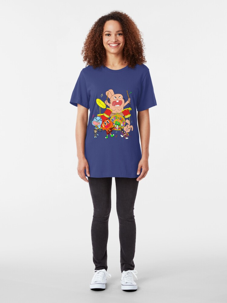 Alternate view of The Band (The Amazing World Of Gumball) Slim Fit T-Shirt