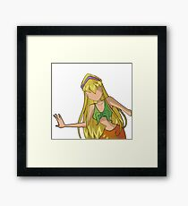 Stella - Casual Outfit - Season 1+2 Inspired Framed Print
