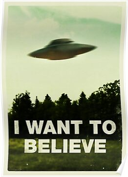 X Files poster on BoomerSwag