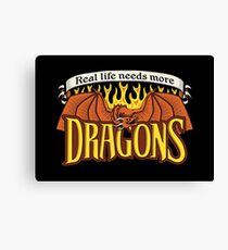 More Dragons Canvas Print