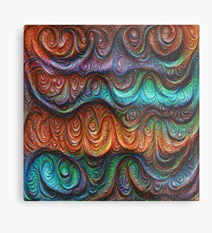 Frozen forest liquid lines and waves #DeepDream Metal Print