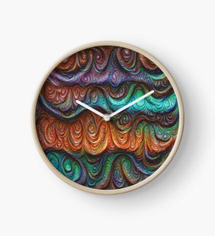 Frozen forest liquid lines and waves #DeepDream Clock