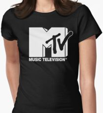 MTV Logo 3 Womens Fitted T-Shirt