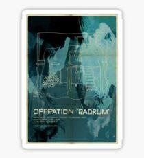 """Operation """"Badrum"""" Sticker"""