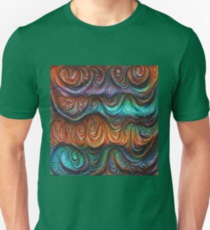 Frozen forest liquid lines and waves #DeepDream T-Shirt