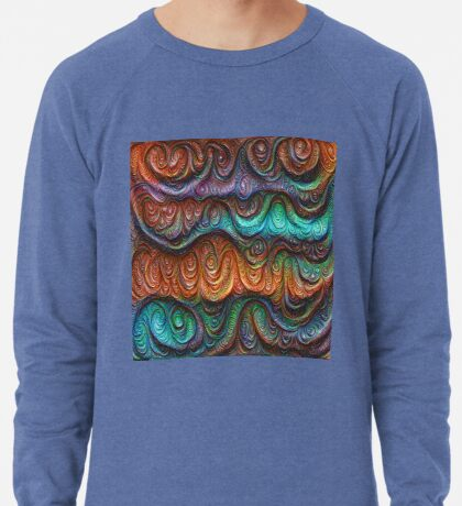 Frozen forest liquid lines and waves #DeepDream Lightweight Sweatshirt