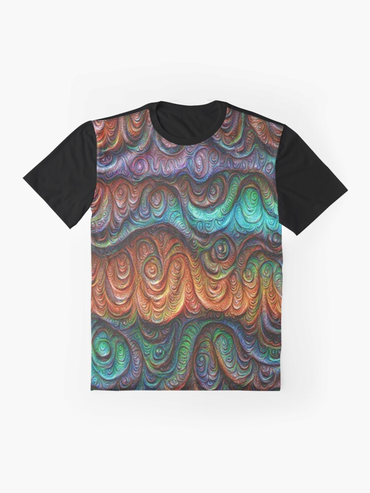 Alternate view of Frozen forest liquid lines and waves #DeepDream Graphic T-Shirt