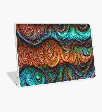 Frozen forest liquid lines and waves #DeepDream Laptop Skin