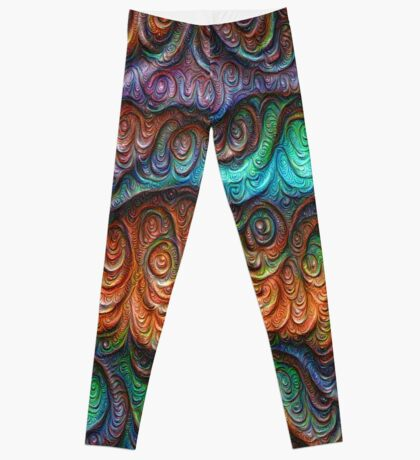 Frozen forest liquid lines and waves #DeepDream Leggings