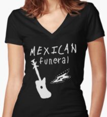 Mexican funeral Dirk Gently band shirt design  Women's Fitted V-Neck T-Shirt