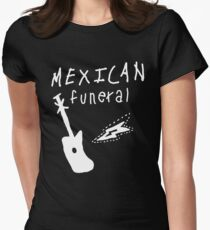 Mexican funeral Dirk Gently band shirt design  Womens Fitted T-Shirt