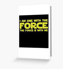 Force Chant Greeting Card