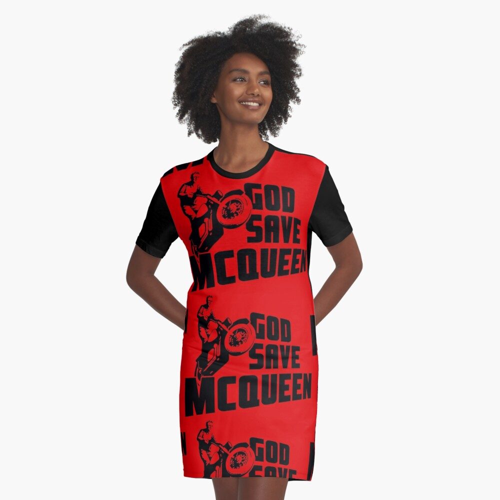 God Save McQueen Graphic T-Shirt Dress Front