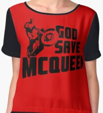 God Save McQueen Chiffon Top